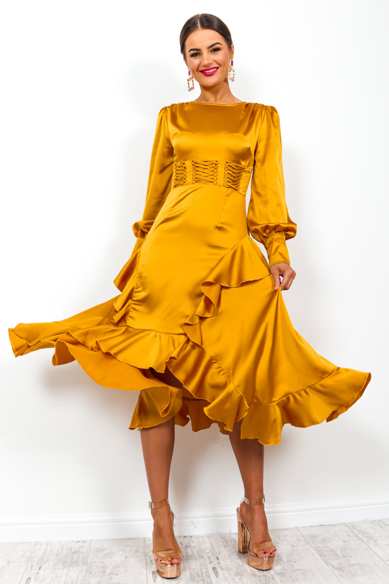 Million Dollar - Dress In MUSTARD