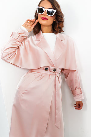 Dust Yourself Off - Coat In PALE PINK