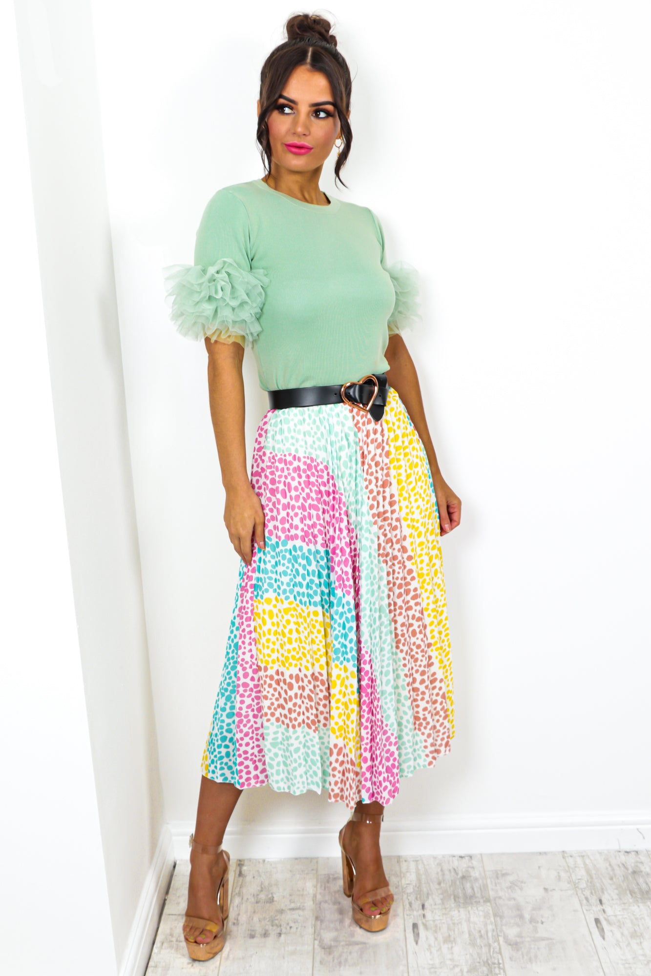 Still Dot It - Skirt In WHITE/MULTI