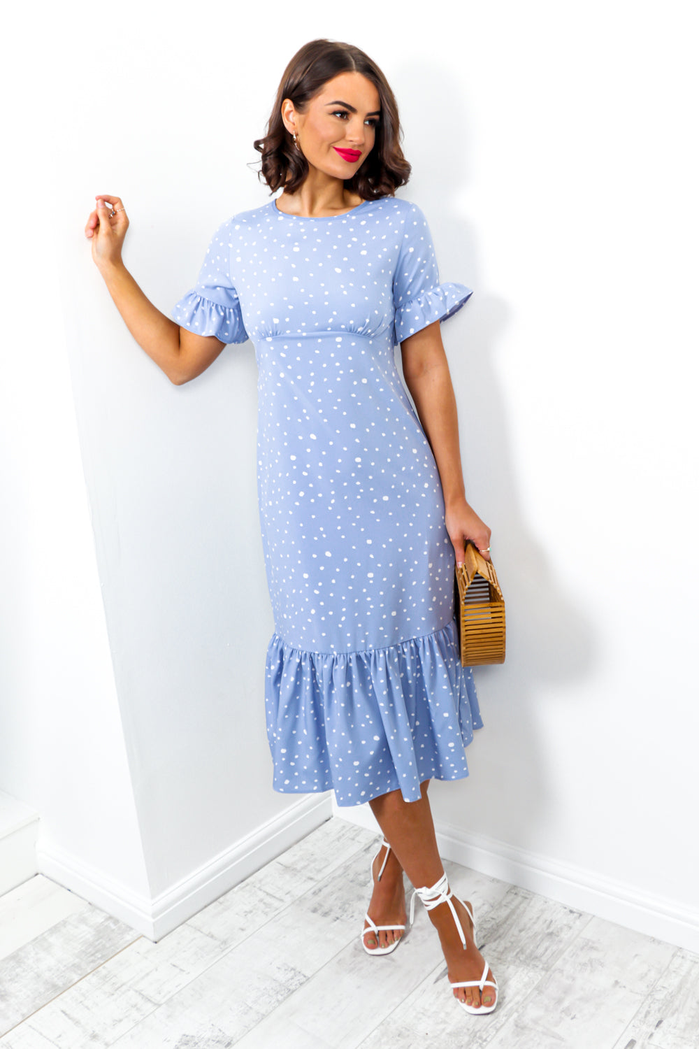 Dot To Dot - Dress In BLUE