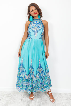 Meet Me At The Halter - Dress In BLUE