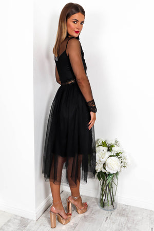 The Dark Side - Midi dress In BLACK