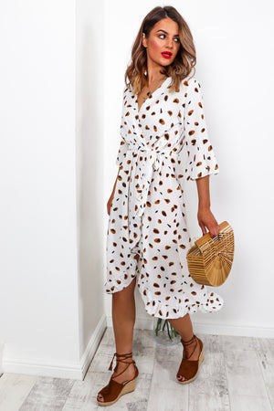 Ruffle Me Up - Dress In CHEETAH