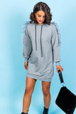 Fairy Queen - Hoodie Dress In GREY