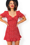 Such A Sweetheart - Dress In RED/FLORAL