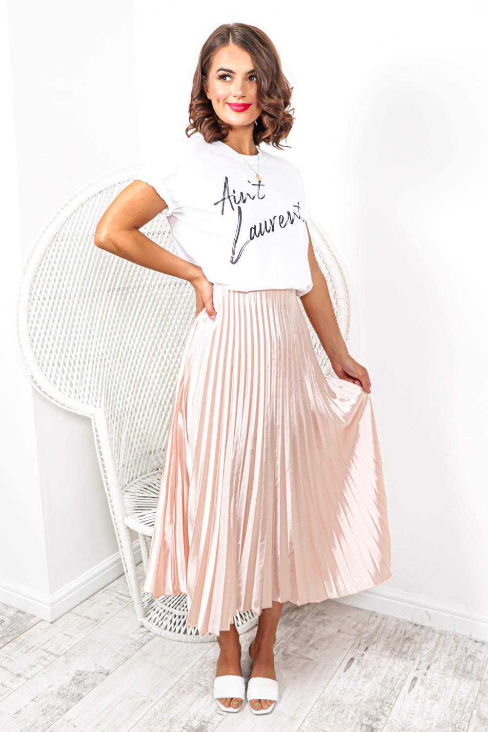Uptown Girl - Skirt In BLUSH