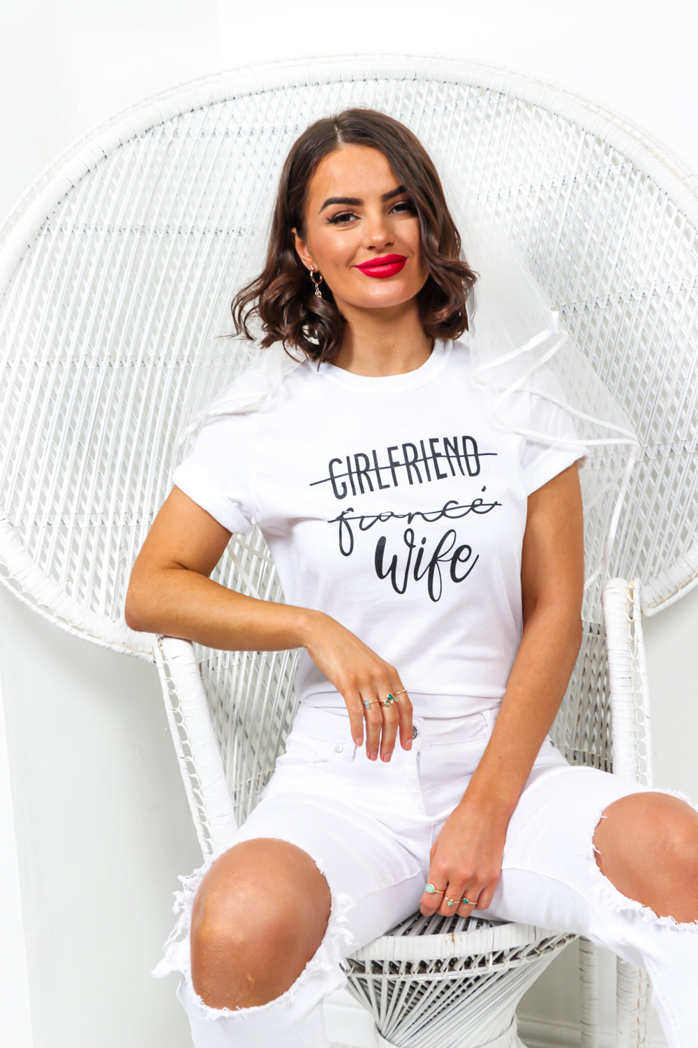 Wifey - T-shirt In WHITE