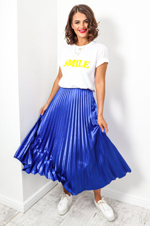 Uptown Girl - Skirt In COBALT