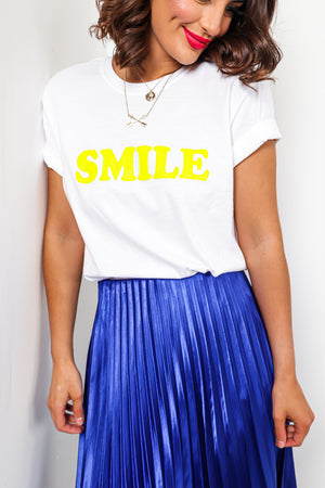Make Me Smile - T-shirt In WHITE
