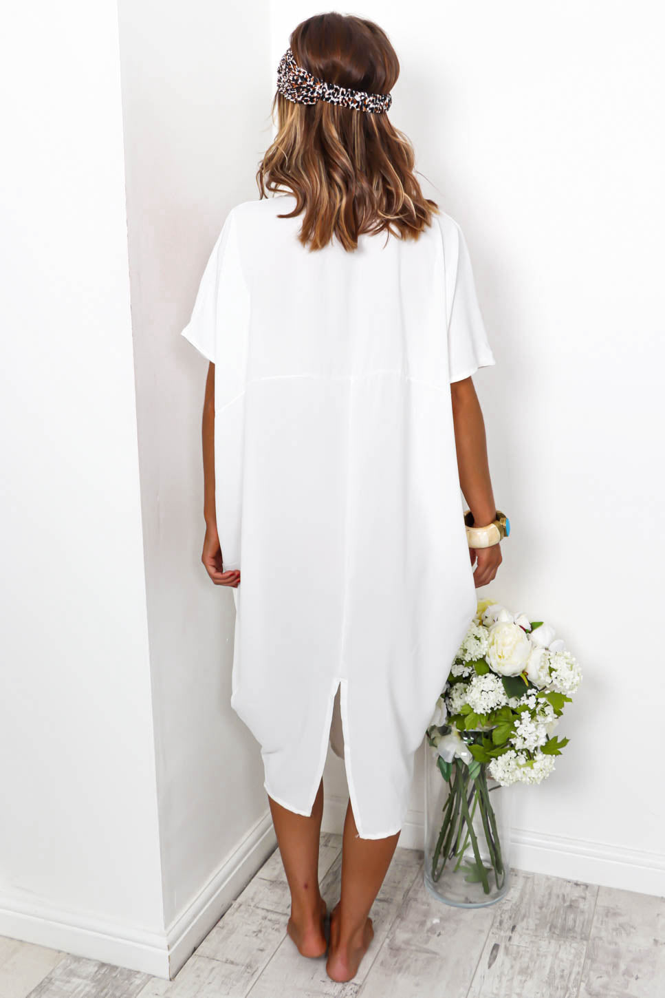 Beach To Their Own - White Midi Dress