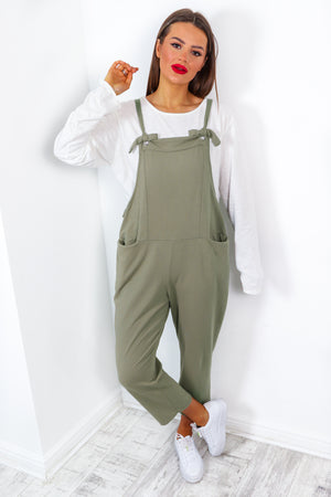 Put The Work In - Khaki Jumpsuit Co-Ord