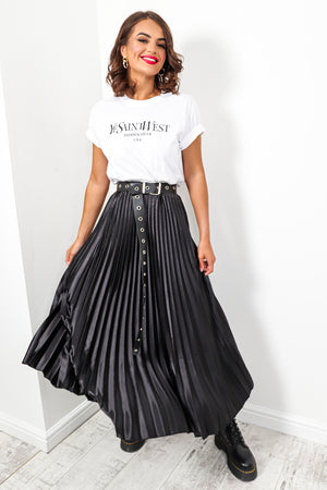 Uptown Girl - Skirt In BLACK