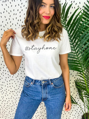 Home Sweet Home - Oversized T-shirt In WHITE