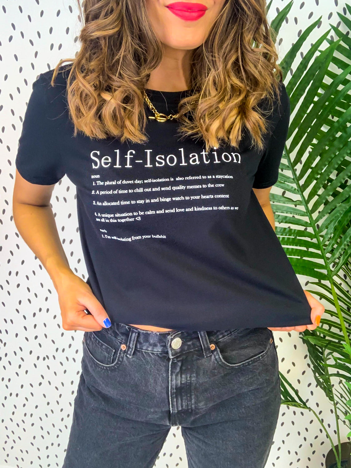 Self-Isolation - T-shirt In BLACK