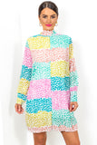 Pleat Treats - Dress In MULTI/SPOT