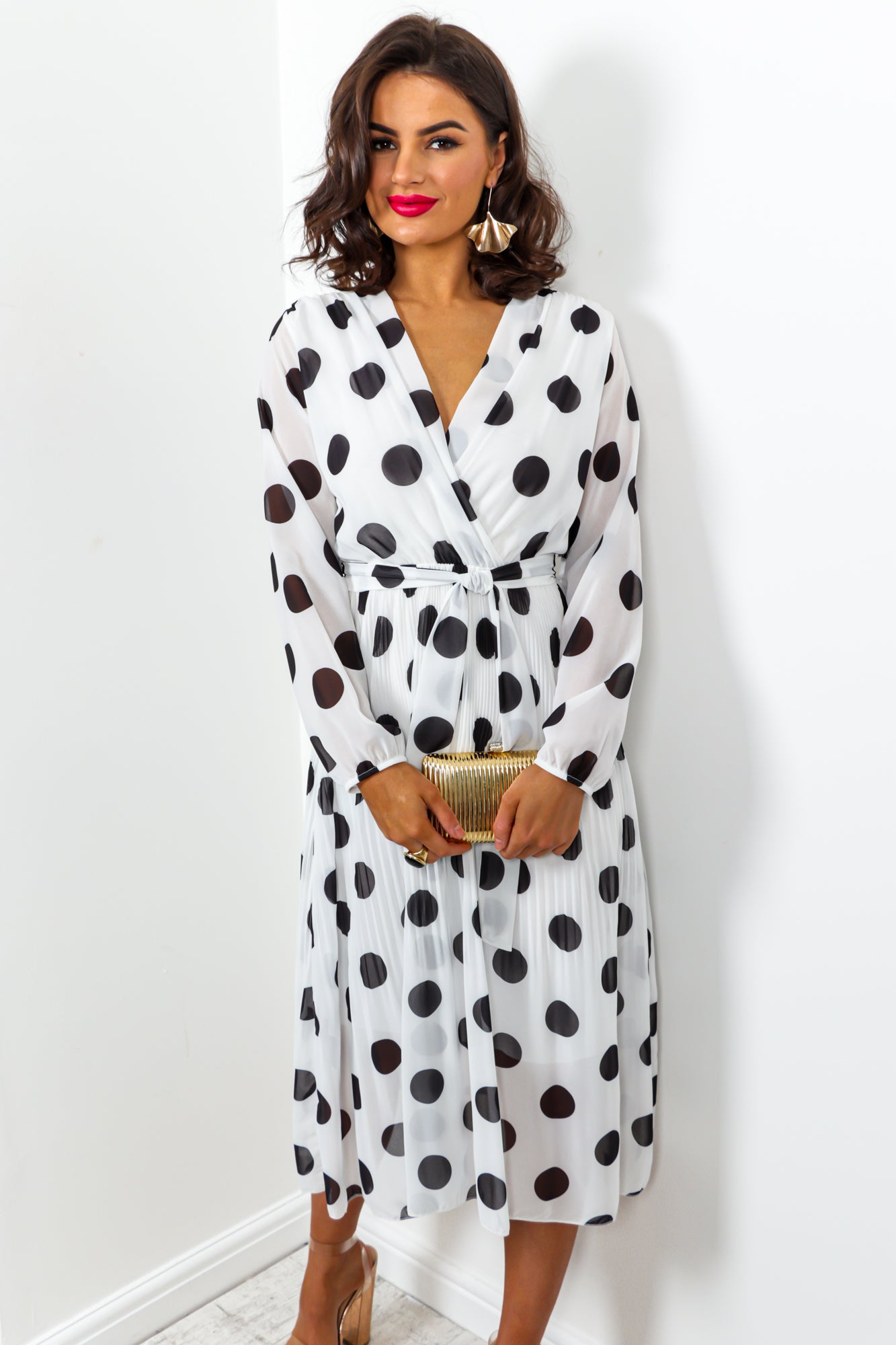 Power Of Love - Dress In WHITE/POLKA-DOT