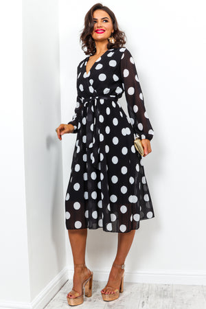 Power Of Love - Dress In BLACK/POLKA-DOT