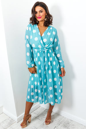 Power Of Love - Dress In BLUE/POLKA-DOT
