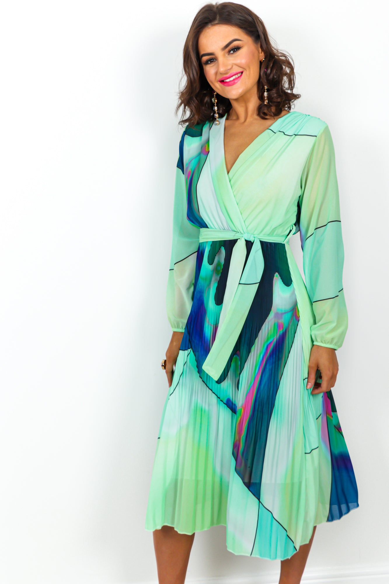 So Slick - Dress In GREEN/MULTI