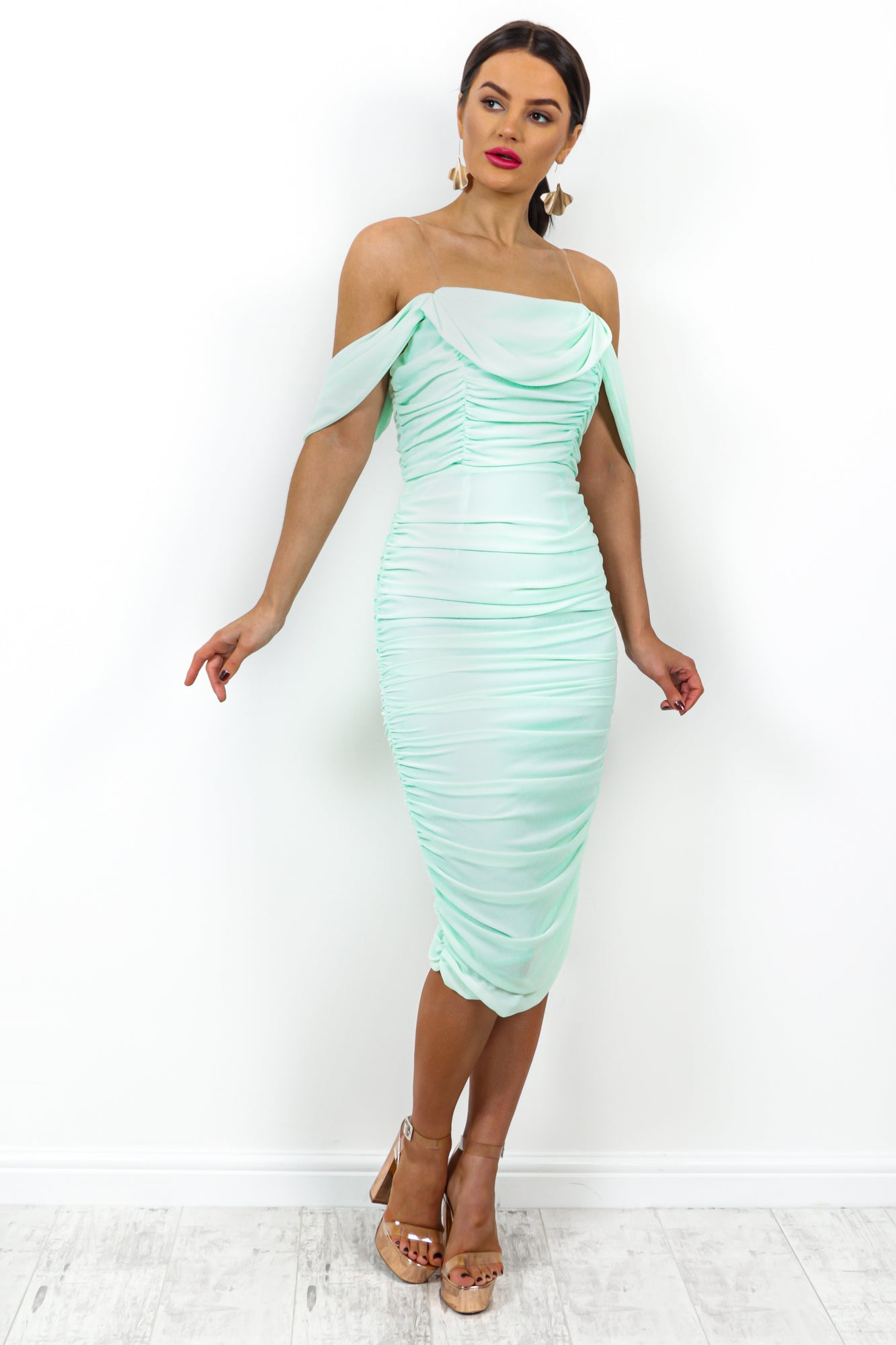 In A Ruche - Dress In MINT