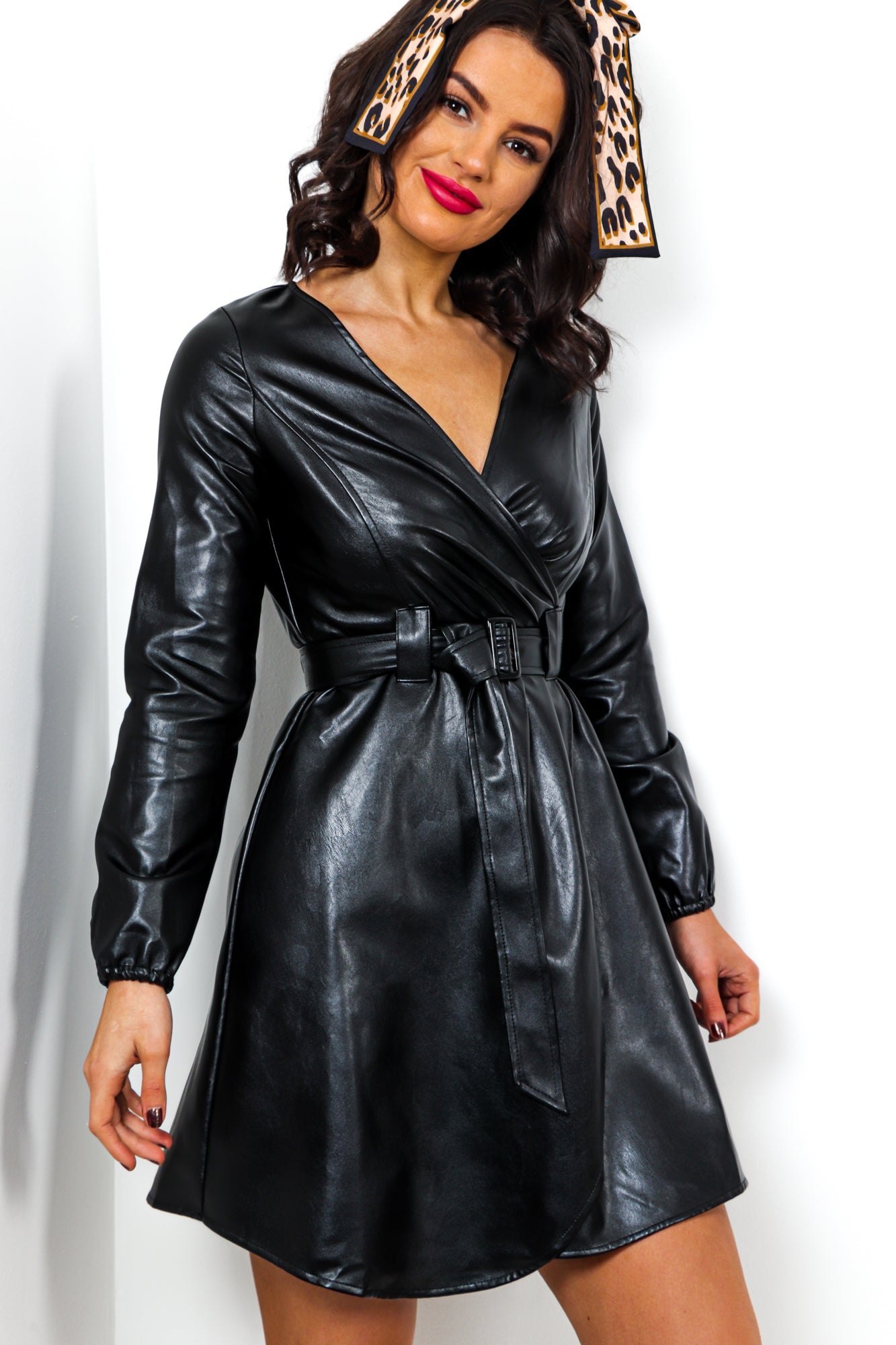 Leather Have I Ever - Dress In BLACK