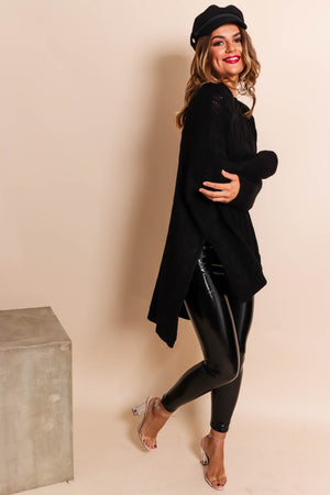What's Knit to Love - Jumper In BLACK