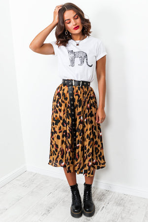 Queen Of The Jungle - Leopard Midi Skirt