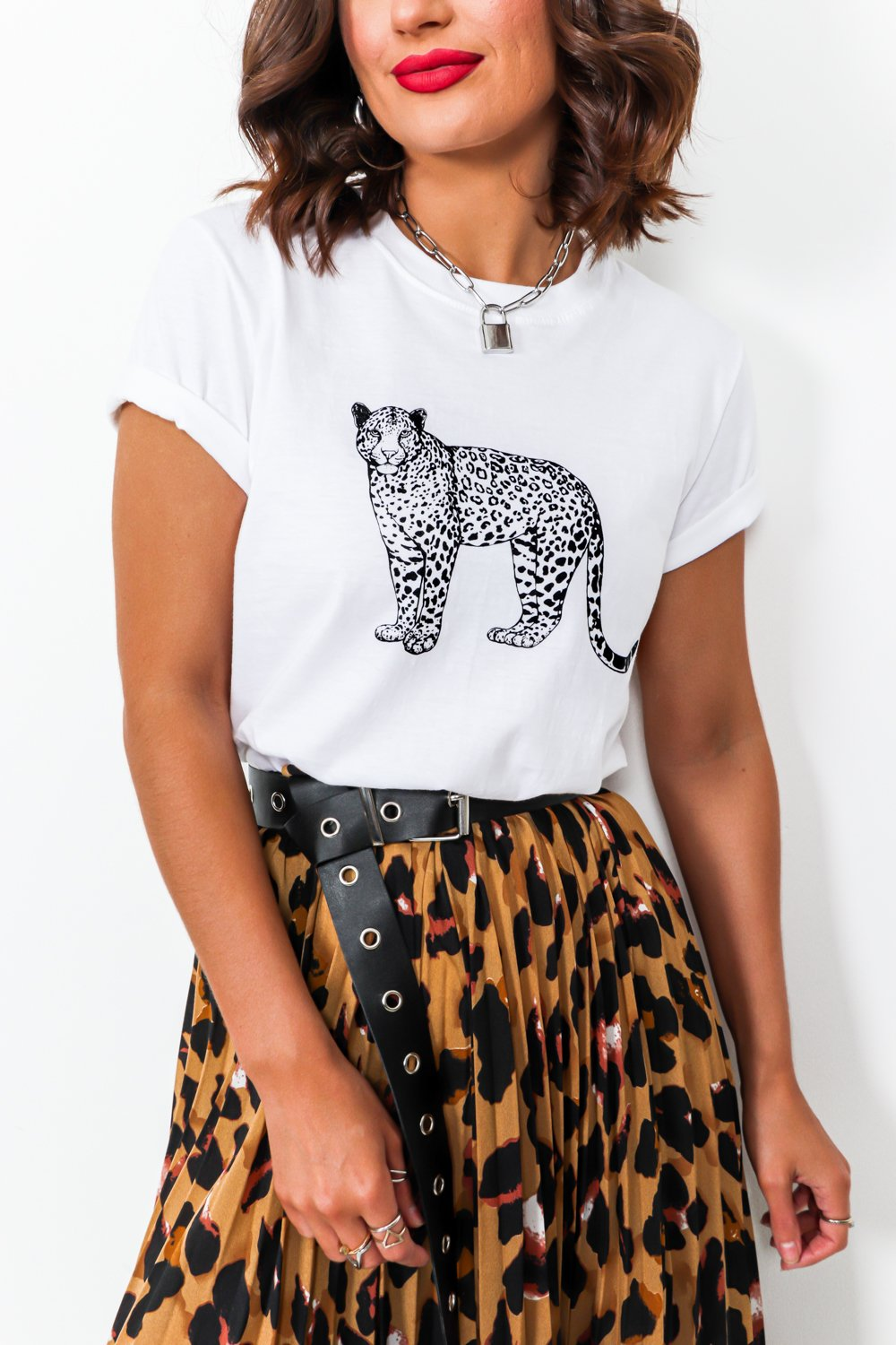 Queen Of The Jungle - Midi Skirt In LEOPARD
