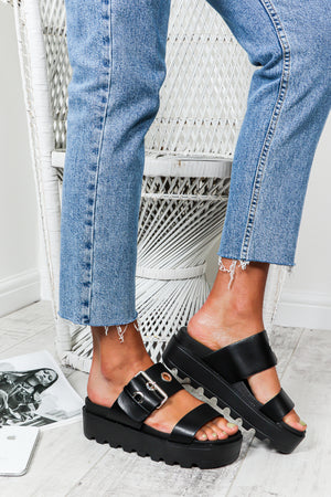 Let's Stroll - Sandals In BLACK
