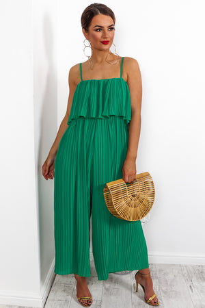 Got The Jump - Jumpsuit In GREEN
