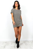Here's The Tee - T-shirt Dress In BEIGE/GRECIAN