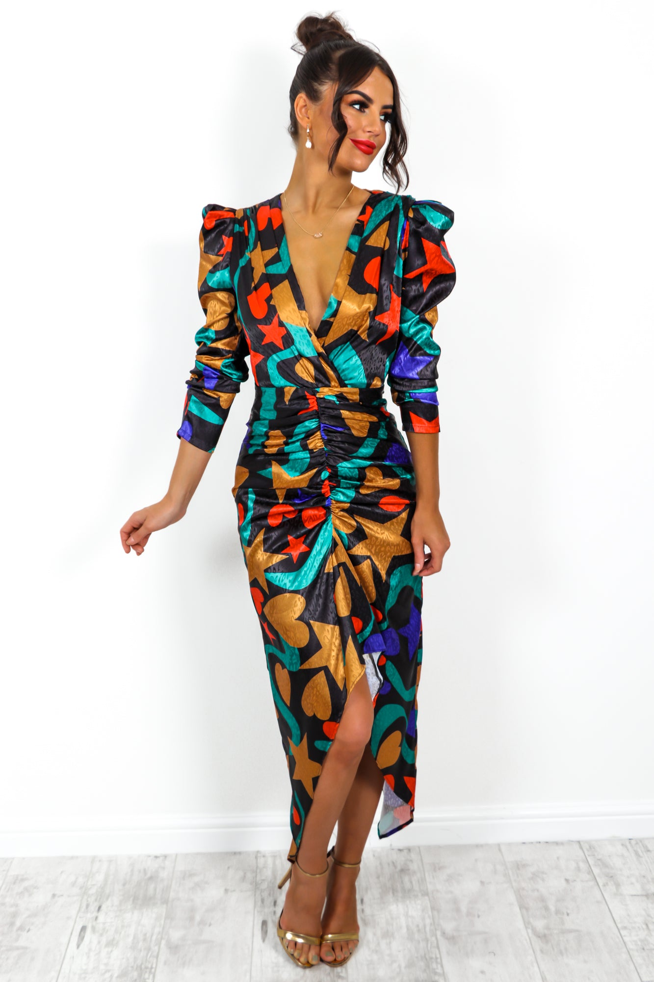 Shape Of You - Dress In BLACK/MULTI