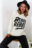Rebellious - Jumper In CREAM
