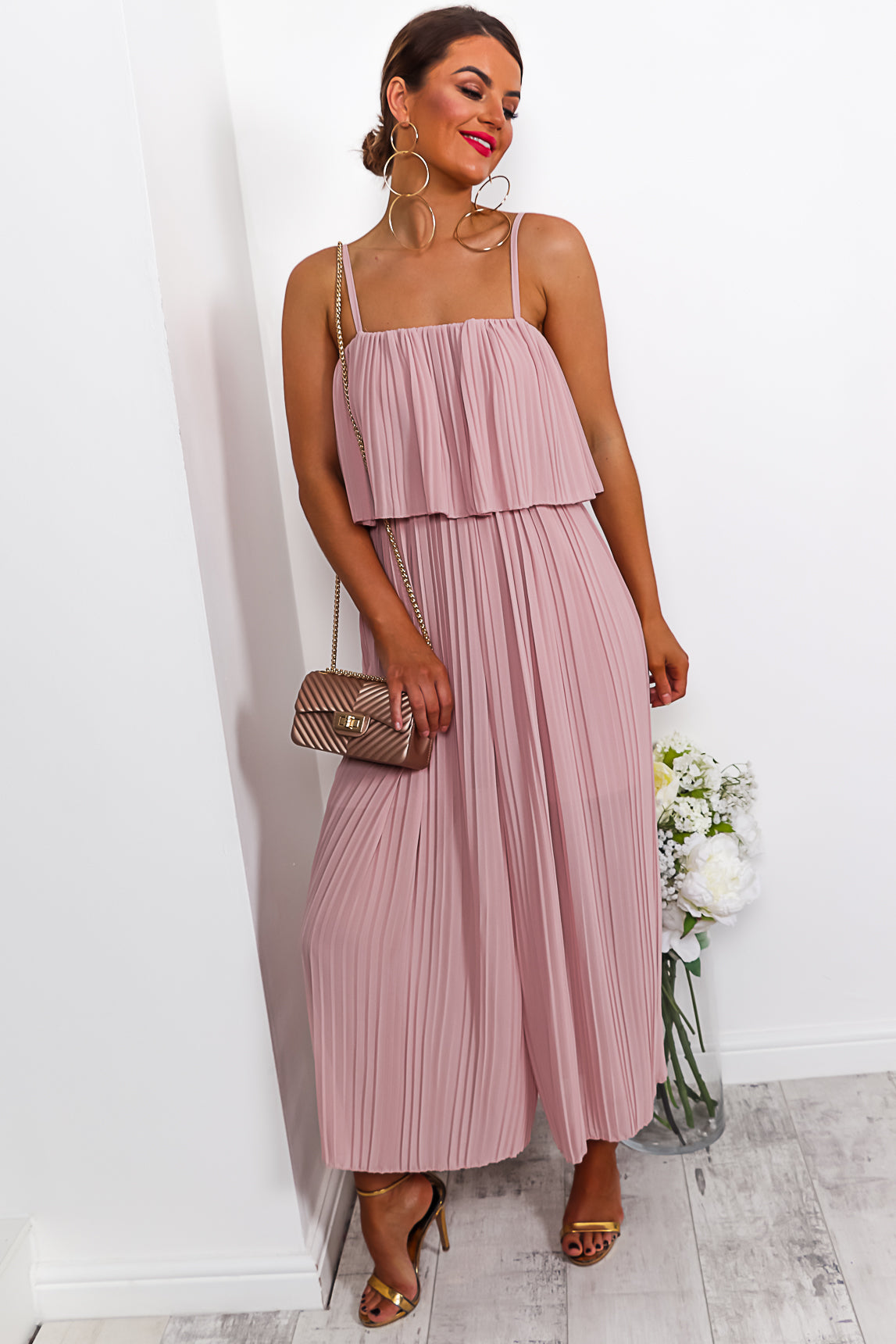 Got The Jump - Jumpsuit In BLUSH