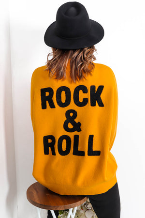 You're My Rock - Jumper In MUSTARD