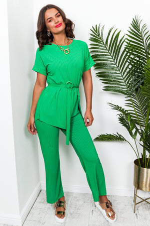 Set Me Up - Co-ord In GREEN