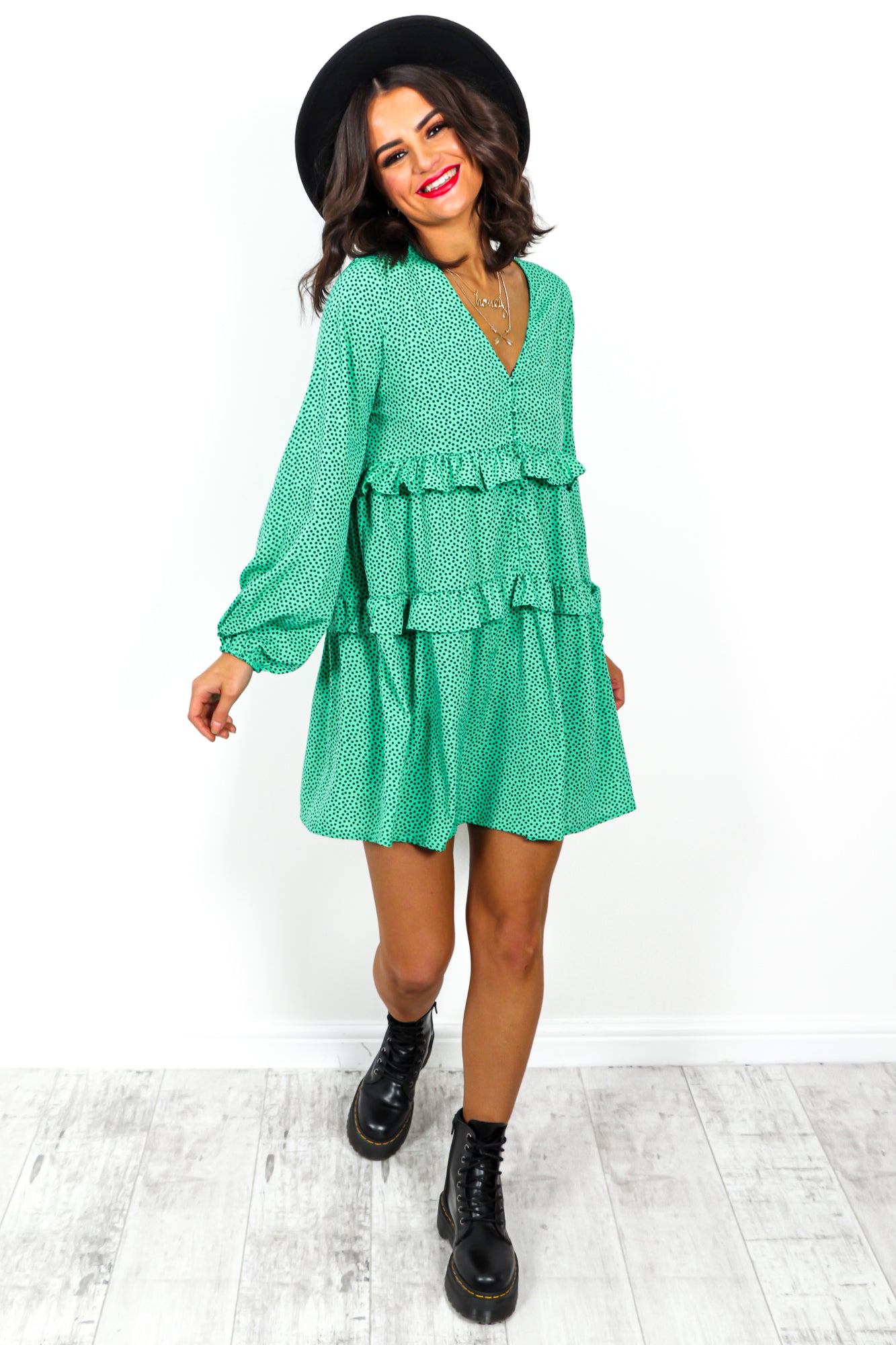 Smock Star - Dress In GREEN