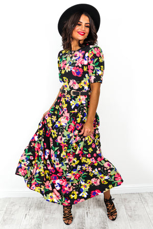 Full Bloom - Dress In BLACK/MULTI