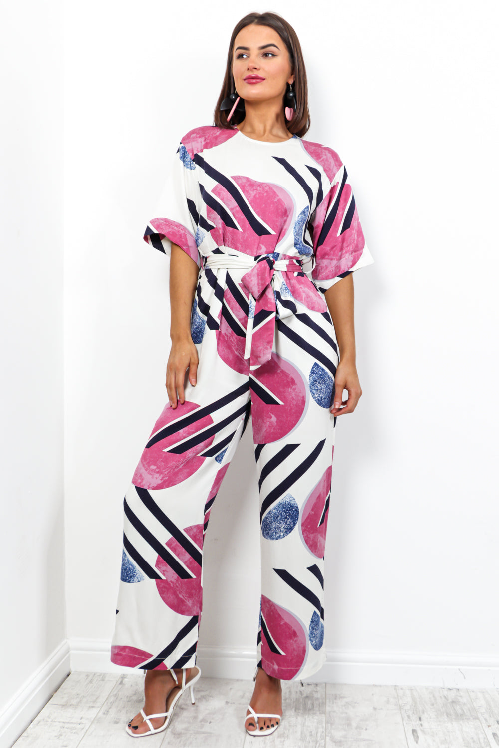 One And Only - Jumpsuit In WHITE/PRINT