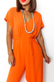 Orange wide leg jumpsuit