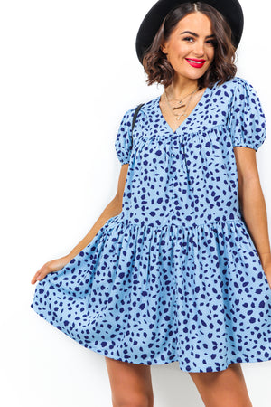 She's So Lovely - Dress In BLUE/PRINT