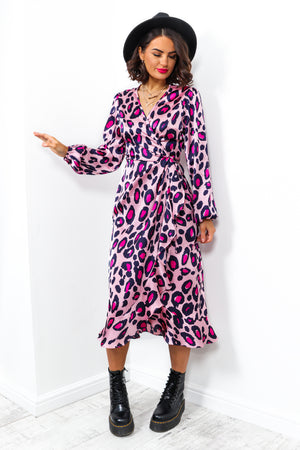 The Claws Are Out - Dress In PINK/LEOPARD