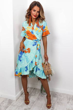 Tropical Getaway - Dress In TURQUOISE