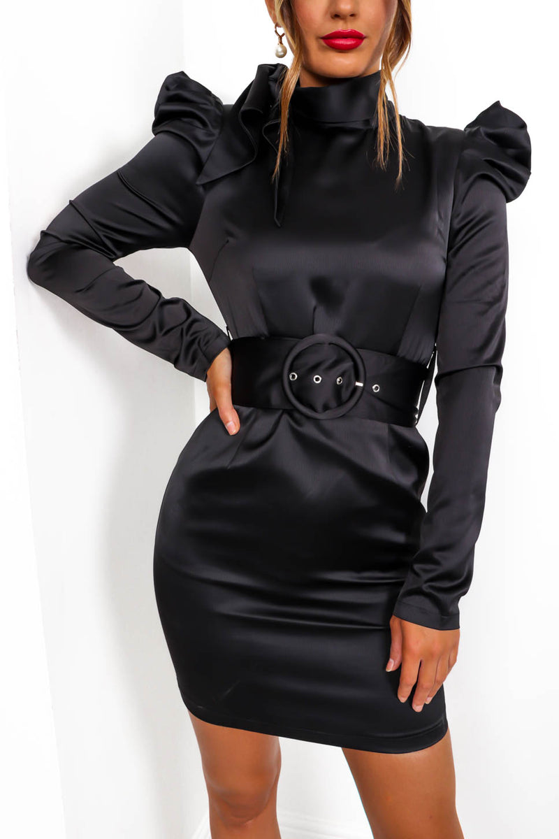 Love Struck - Mini Dress In BLACK