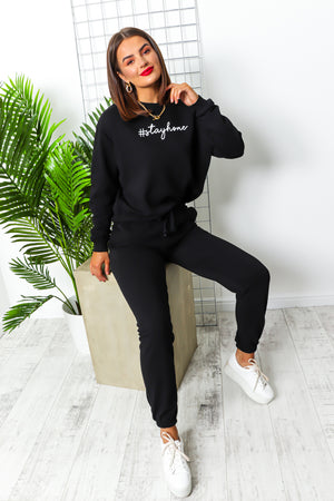 Stay Home - Tracksuit In BLACK