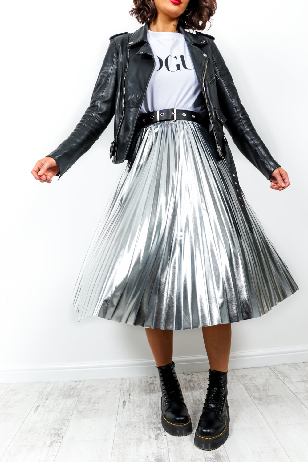 Make It Shine - Skirt In SILVER