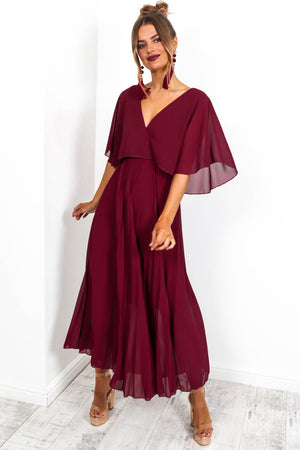 Timeless - Maxi Dress In WINE