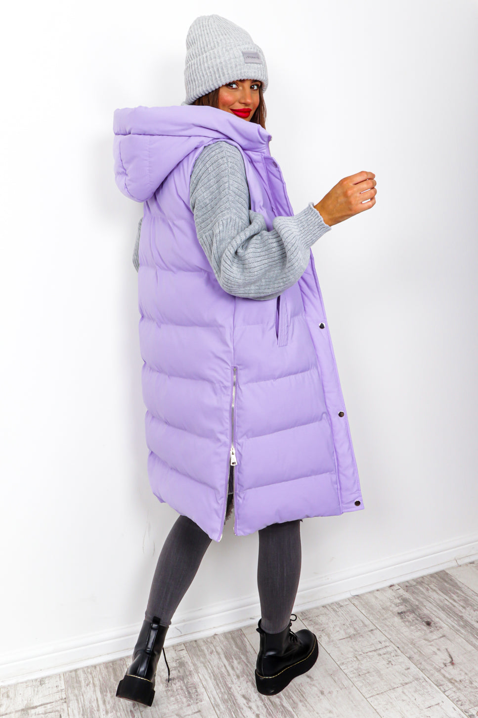 Into The Warm - Lilac Long Gilet