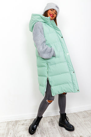 Into The Warm - Mint Long Gilet