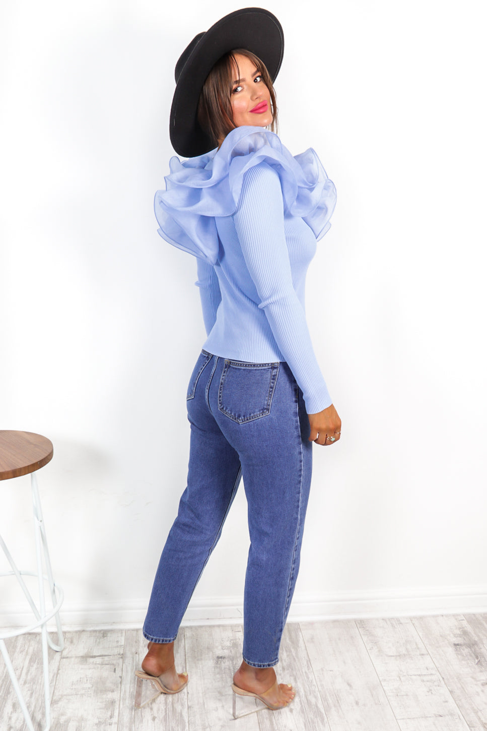 It's A Frill - Blue Frilled Top